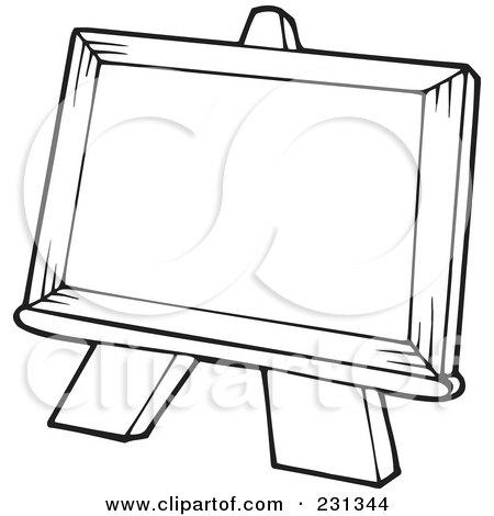 Clipart Art Class School Kids With A Blank Canvas