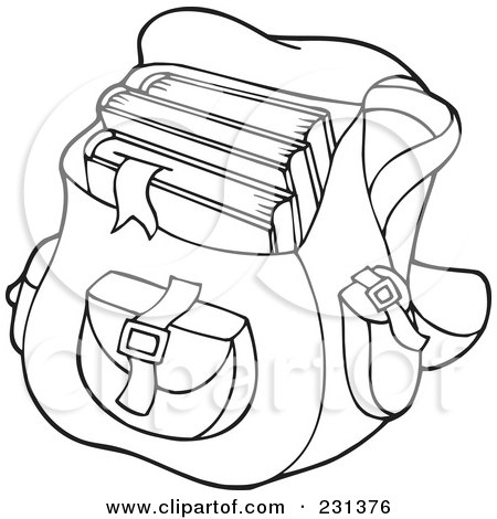 Royalty-Free (RF) Clipart Illustration of a Backpack