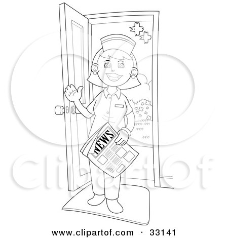 Royalty-Free (RF) Clipart Illustration of a Friendly