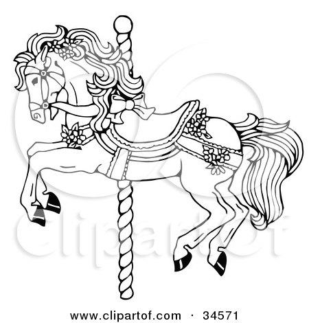 Royalty-Free (RF) Clipart Illustration of a Black Line Art
