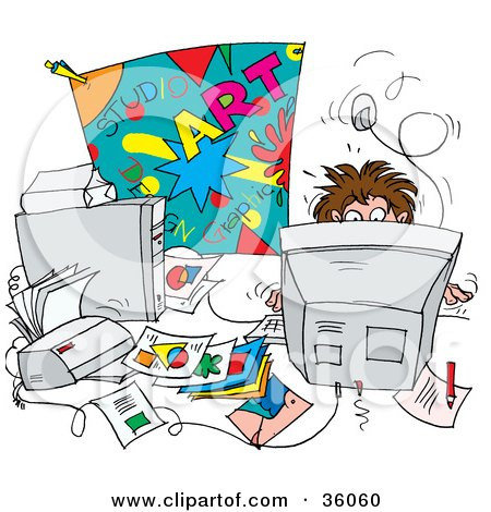 clipart illustration of busy