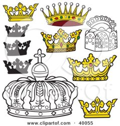 crowns royal clipart crown king illustration dero kings styled arch yellow poster print rf illustrations royalty clipartof