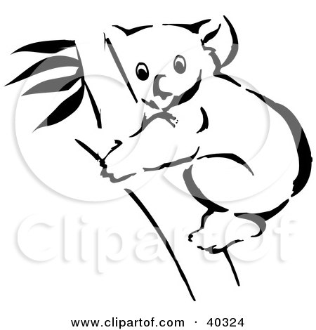 Clipart Illustration of a Black And White Coloring Book