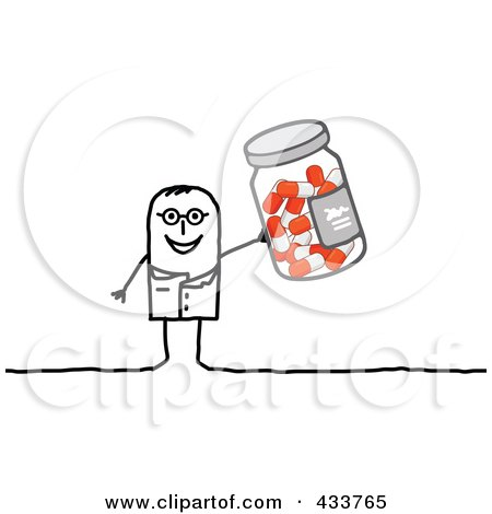 Royalty-Free (RF) Clipart Illustration of a Stick People