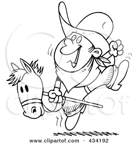 Clipart Of A Retro Vintage Black And White Girl Playing