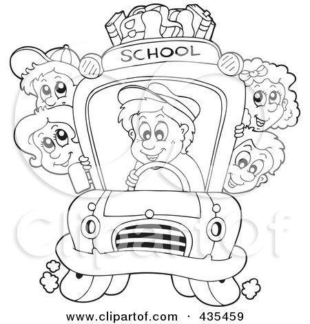 Royalty-Free (RF) Clipart of School Bus, Illustrations