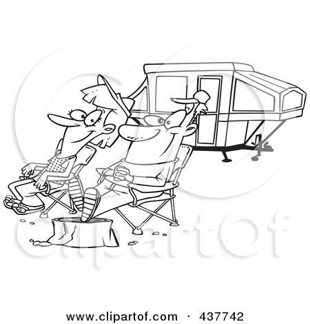 Royalty-Free (RF) Clip Art Illustration of a Cartoon Man