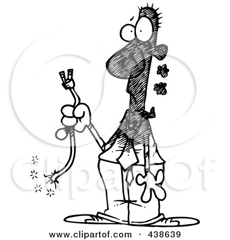 Royalty-Free (RF) Clip Art Illustration of a Cartoon Man