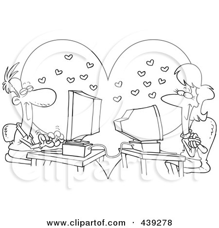 Royalty Free Internet Dating Illustrations by toonaday Page 1