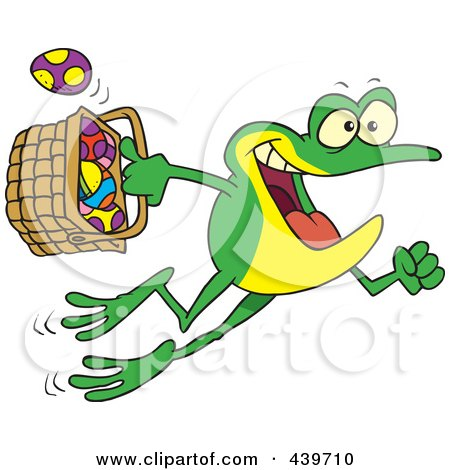 royalty-free rf easter frog clipart