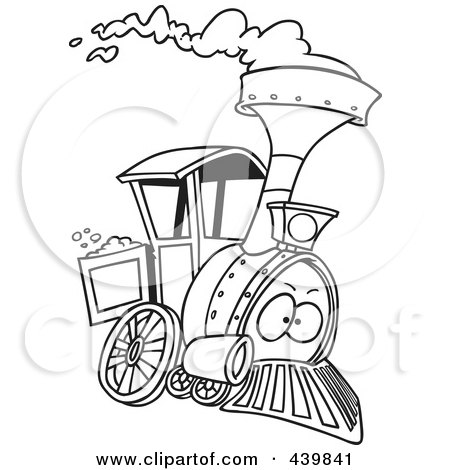 Royalty-Free (RF) Clipart of Steam Engines, Illustrations