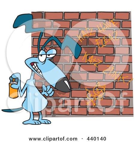 RoyaltyFree RF Clip Art Illustration of a Cartoon Punk