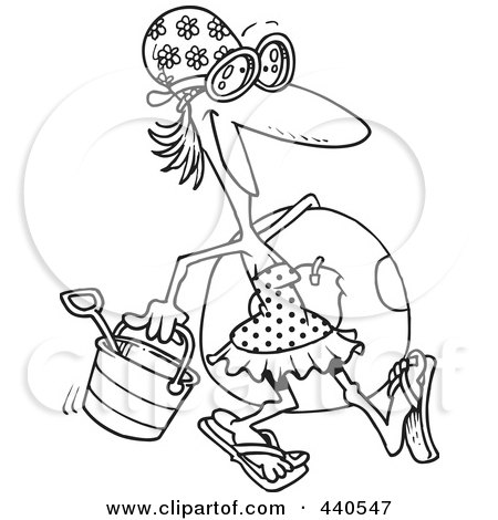Royalty-Free (RF) Clip Art Illustration of a Cartoon Black
