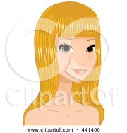 royalty-free rf blonde hair clipart