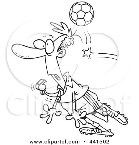 Cartoon Female Referee Blowing A Whistle Posters, Art