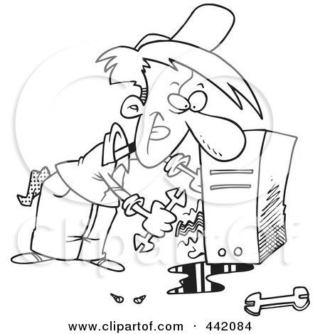 Royalty-Free (RF) Clipart of Computer Repairs