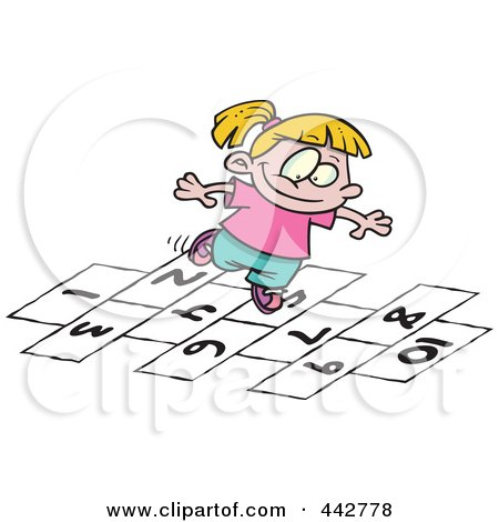 RoyaltyFree RF Hop Scotch Clipart Illustrations