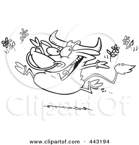 Royalty Free Stock Illustrations of Cows by toonaday Page 2