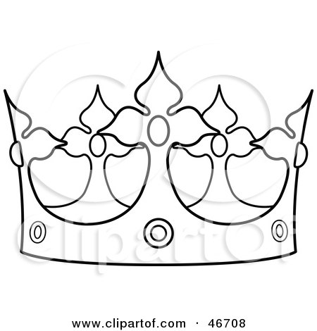 luther vandross: clip art crown outline