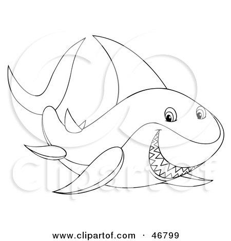 hot wallpaper desktop: Shark Outline