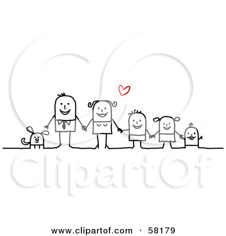 Royalty Free Rf Clipart Illustration Of A Stick Family