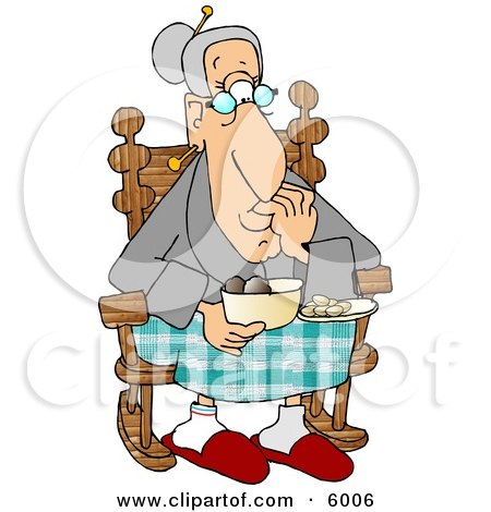 grandma rocking chair seaside deck chairs royalty-free (rf) retirement clipart, illustrations, vector graphics #1