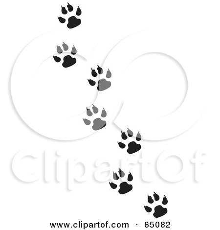 Royalty-Free (RF) Clipart of Animal Prints, Illustrations