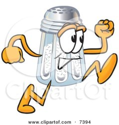 salt shaker cartoon clipart mascot character running toons4biz poster clip clipartpanda prints resting print head hand royalty these clipartof