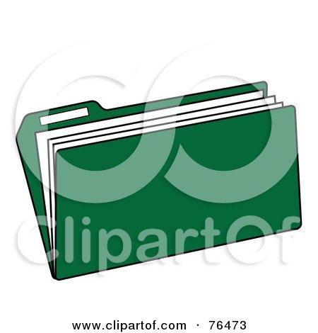 RoyaltyFree RF Clipart of Manila Folders Illustrations