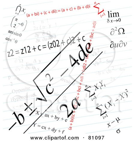 Royalty-Free (RF) Clipart Illustration of a Math Problem