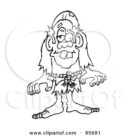 Royalty-Free (RF) Clipart Illustration of a Blond