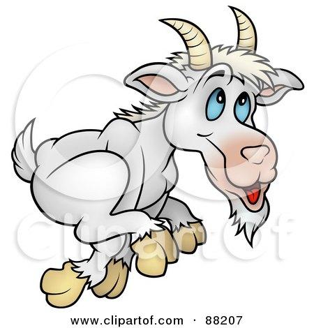 Royalty Free RF Running Goat Clipart Illustrations