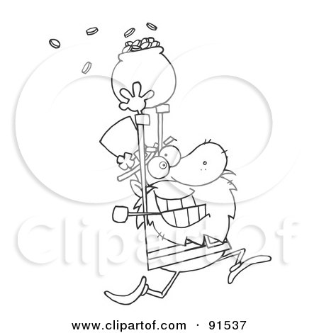 Royalty-Free (RF) Clipart Illustration of an Outlined