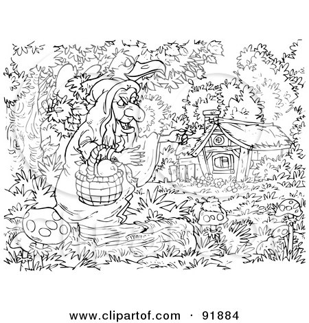 Coloring Page Outline Of Dwarves And Snow White Posters