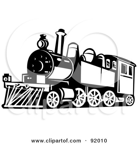 Royalty-Free (RF) Clipart of Retro Trains, Illustrations