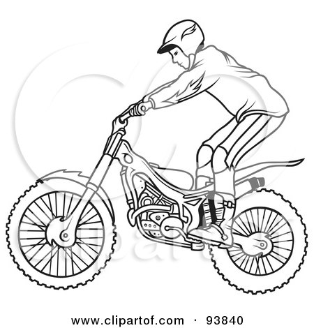 Royalty-Free (RF) Clipart Illustration of a Motorcycle