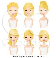 clipart cute black girl with six