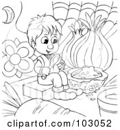 Clipart Illustration of a Pleasant Food Critic Man In A
