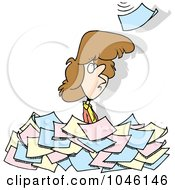 woman in paperwork