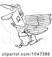 Royalty-Free (RF) Clipart of Delivery Boys, Illustrations