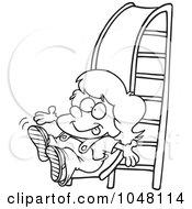 Royalty-Free (RF) Clip Art Illustration of a Cartoon Girl