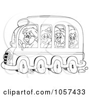 Royalty-Free (RF) Bus Ride Clipart, Illustrations, Vector