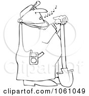 Royalty-Free (RF) Whistle While You Work Clipart