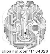 3d Glowing Orange Technical Quantum Computer Circuit Board