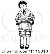 royalty standing reading boy library clip
