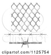 Circular Border Frame Of Barbed Wire Over A White