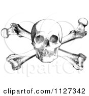 Clipart Illustration of a Black And White Skull Design