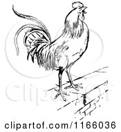 Clipart Vintage Black And White Rooster Weathervane