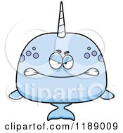 cartoon clipart narwhal whale royalty vector talking mad thoman cory grinning evil