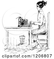 Cartoon of Typewriter Website Headers with Copyspace